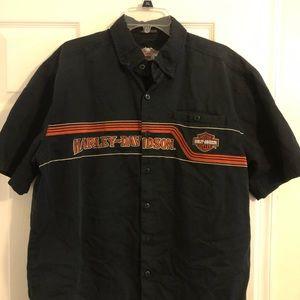 Harley Davidson button up T-Shirt